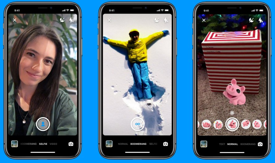 Facebook Messenger now Supports Boomerang Video, offers AR Stickers and Portrait Mode Photos