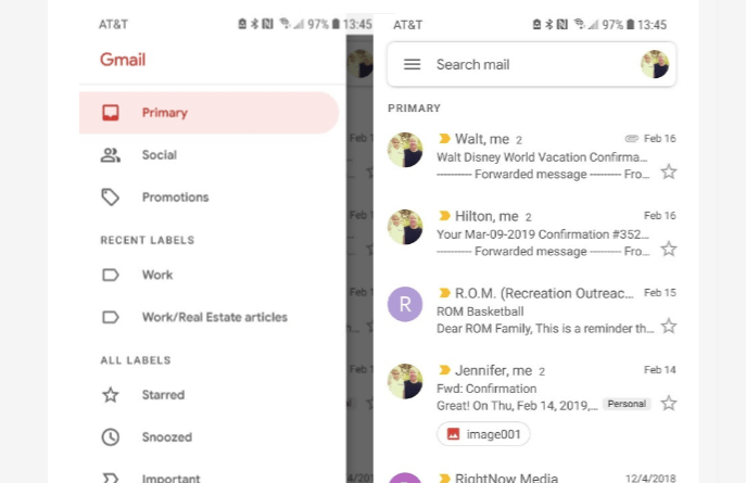 Gmail Material Design update