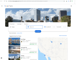 Google Flights Material Theme screenshot