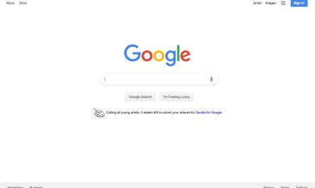 Google home page Material Theme
