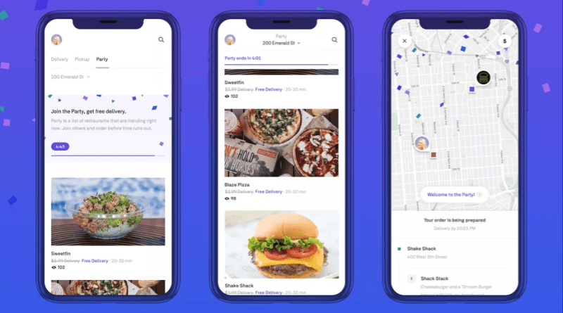 Postmates Party free group delivery