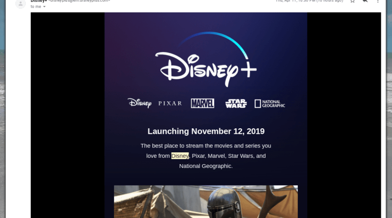 Disney Plus streaming service details