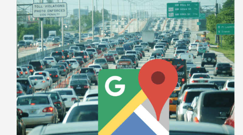 Google Maps traffic congestion reporting