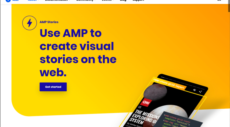 Google mobile search AMP Stories