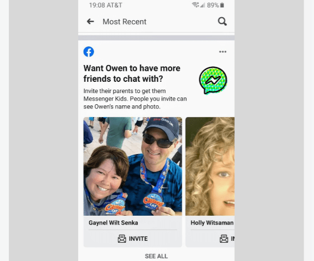 Facebook is Actually Asking Parents to Invite other Adults to Join Messenger Kids to Chat with their Children
