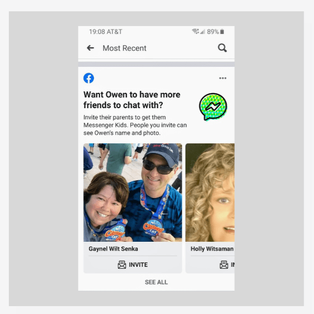 Facebook asks parents to invite adult friends to join Messenger Kids