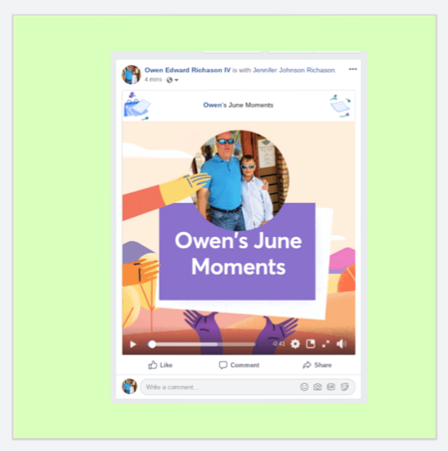 2019 Facebook June Moments video