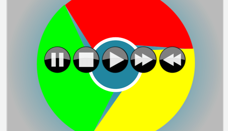 Google Chrome media control