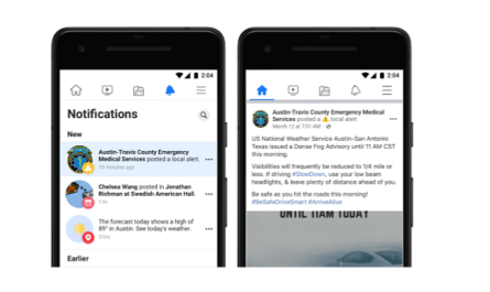 Facebook local government alerts expand