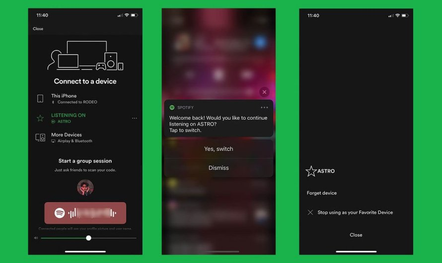 Spotify is Experimenting with Phone to Home Audio Seamless Switching