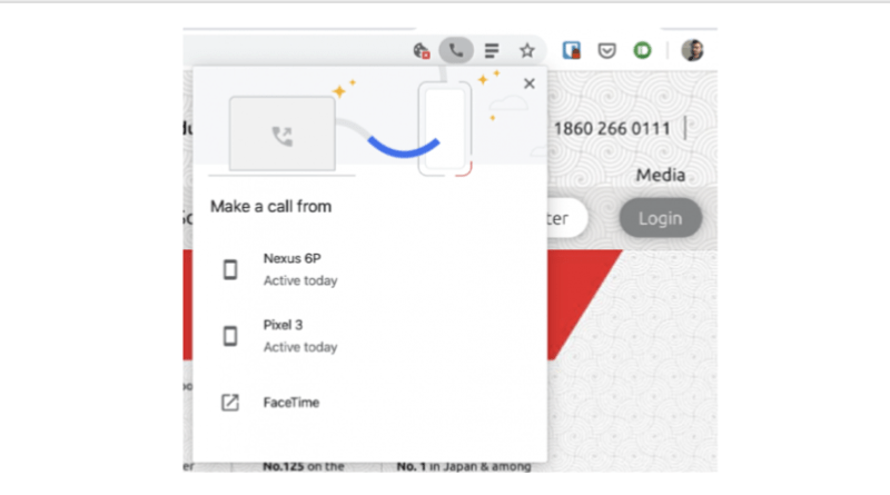 Chrome desktop beta 78 phone number sharing