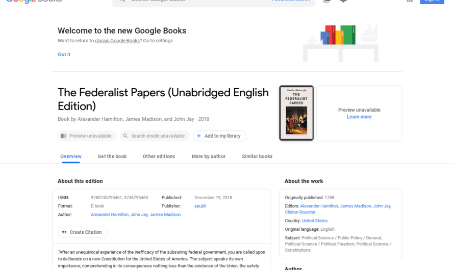 Google Applies Material Theme Redesign to Google Books and Adds more Search Integration