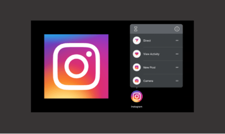 Instagram Android app shortcuts