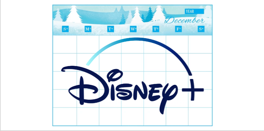 Disney Plus unavailable title placeholders display years-away premier dates