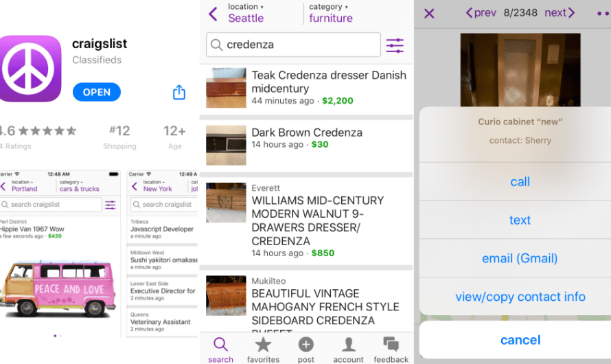 Craigslist Finally Introduces its Own Mobile App on iOS, with Android coming Soon after Beta Test