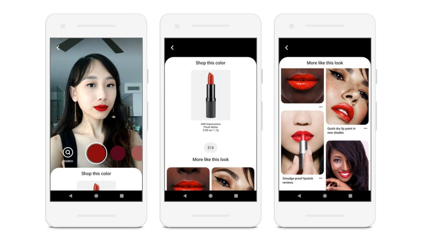 New Pinterest Virtual Augmented Reality Makeup Try-On Tool Debuts