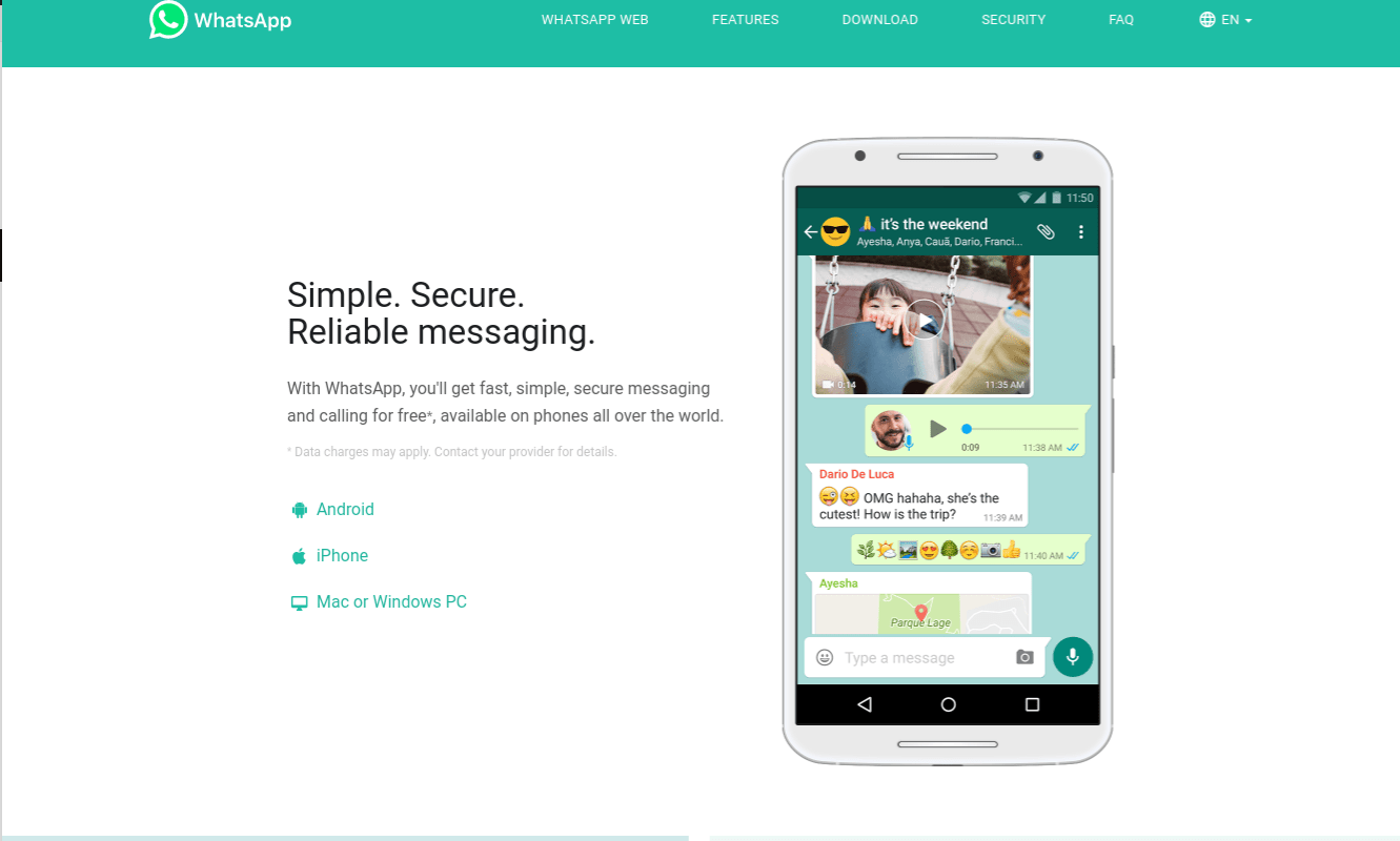 WhatsApp desktop site remote access security flaw