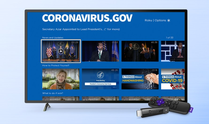 The US Government Now has an Official Coronavirus News Channel on the Roku Platform