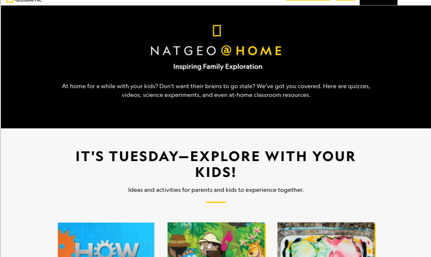 National Geographic Releases a New Homeschooling Resource for