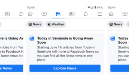 Facebook Today In section being weaved into News tab