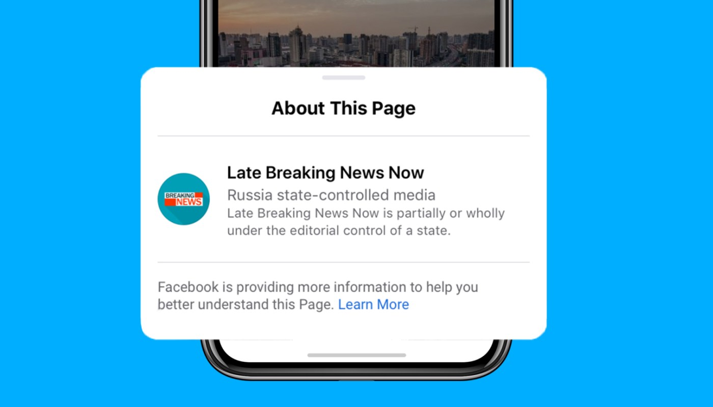 Facebook starts labeling state-controlled media