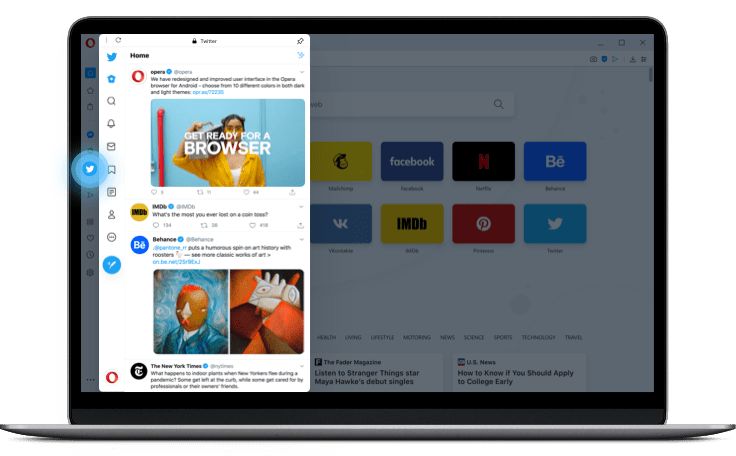 Opera Added Twitter to its Desktop Experience, after Doing the Same with Instagram and Others