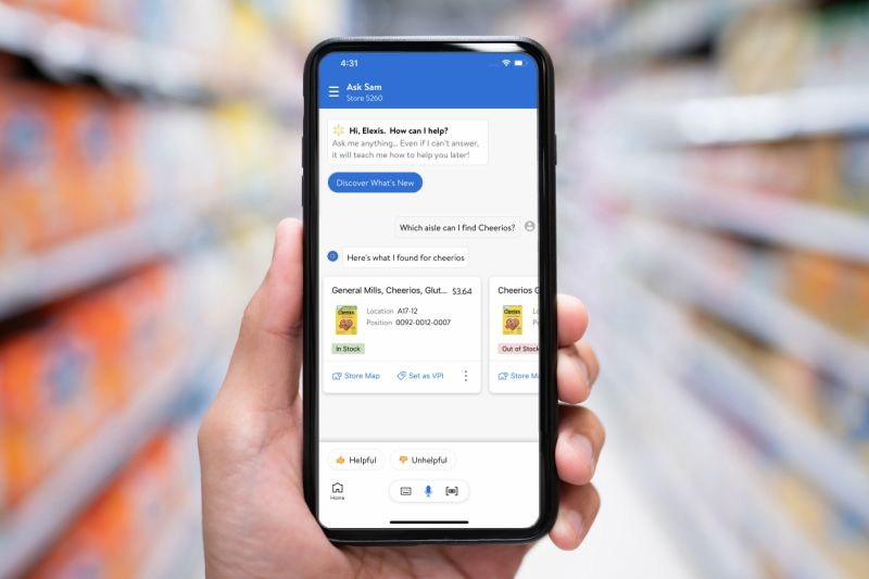 Walmart rolls out its own voice assistant 'Ask Sam' for employees