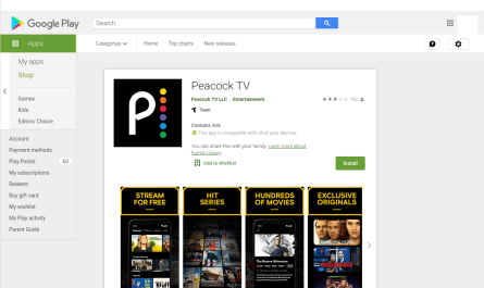 new NBC Peacock Android streaming app doesn't appear in Google Play Store search results