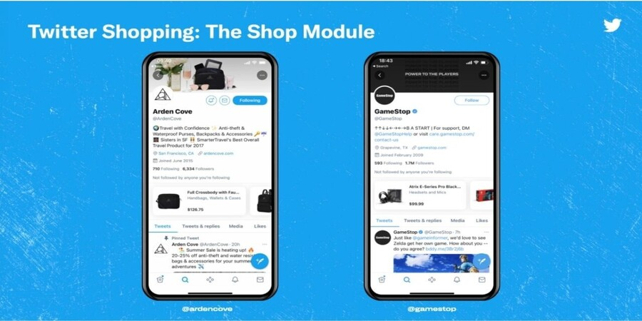 New Twitter E-Commerce Shopping Module Feature Test Underway