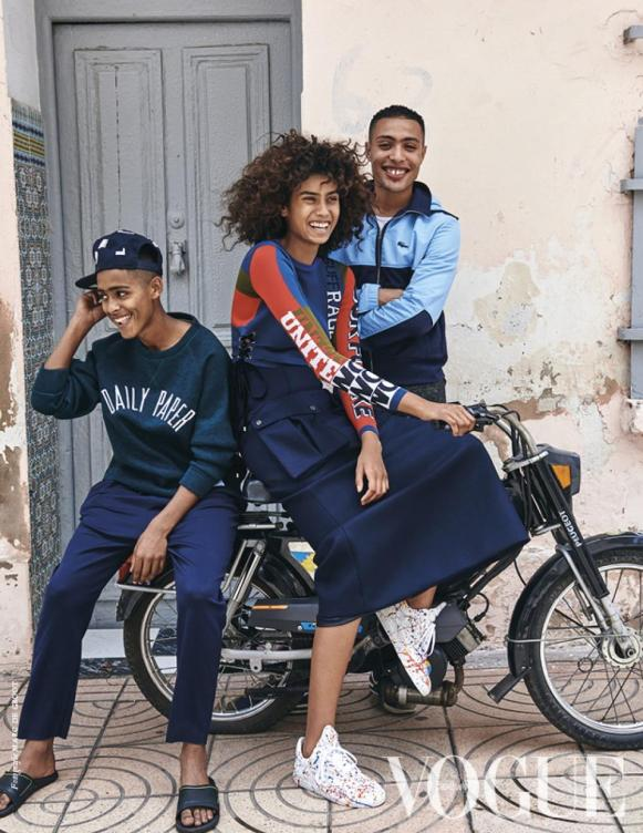 Imaan Hammam in Vogue