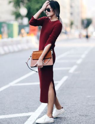 Ways to wear bordeaux