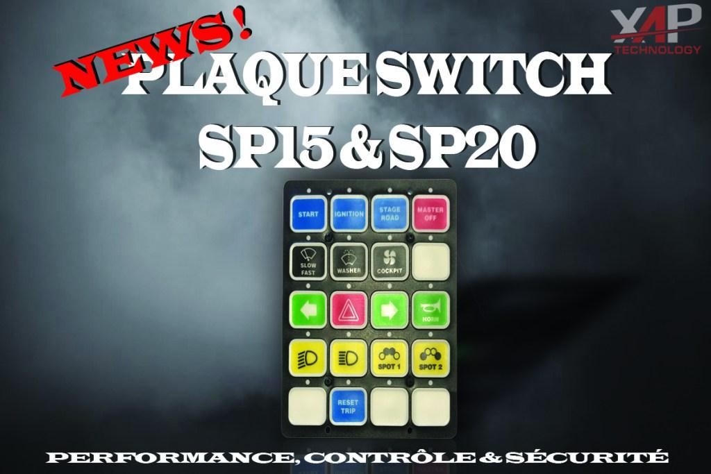 plaque switch sp15 et sp20 xap