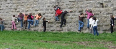 Carcassonne Kids climbing wall Fortified