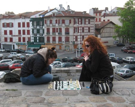 Playing Chess In Bayonne Place Paul Bert