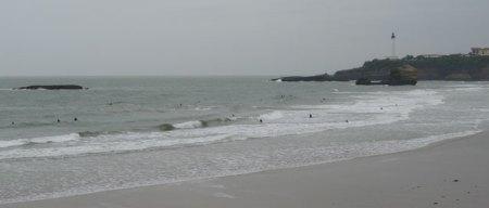 Surfers on the Grande Plage de Biarritz