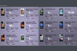 Prix de l'iPhone 4S en Suisse: les subventions de Sunrise.