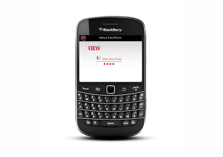 L'application Adeya pour BlackBerry.