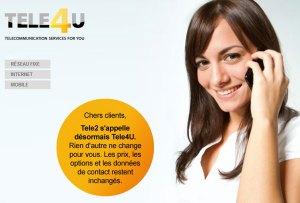 Le nouveau site suisse de Tele4U.