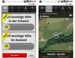 L'application de la Rega pour obtenir de l'aide en Suisse et dans le reste du monde.