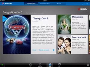 Le test exclusif de l'application Swisscom TV pour iPad