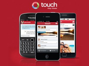L'application touch.com.