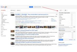 Dans Google Chrome, il est possible de personnaliser Google News...