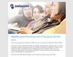 Swisscom TV Plus Replay: 70 chaînes pendant 24 heures.