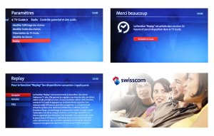 La procédure d'activation de Swisscom TV Replay.