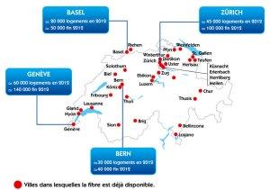 L'offre de fibre optique de VTX disponible dans toute la Suisse.
