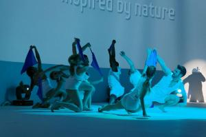 Un petit show organisé en Suisse à Zrrich pour le lancement du Samsung Galaxy S3.