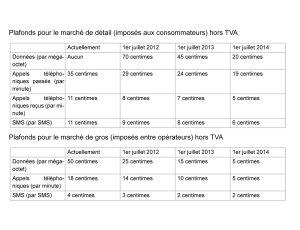 Roaming: les tarifs d'itinérance valables en Europe dès 2012 et jusqu'en 2014.