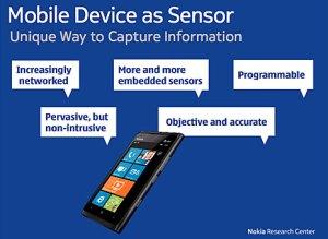 Mobile device as sensor par Nokia.