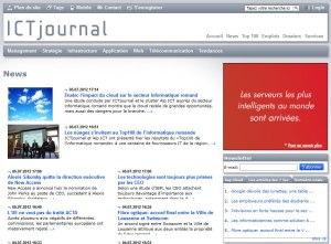 Le site d'ICT Journal.