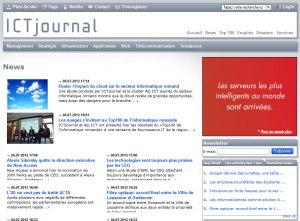 Le site d'ICT Journal.